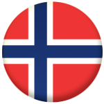Norway Country Flag 25mm Keyring